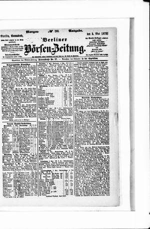 Berliner Börsen-Zeitung vom 03.05.1873
