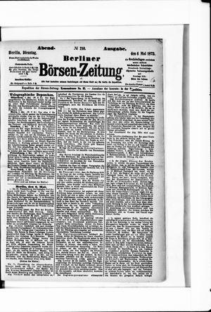 Berliner Börsen-Zeitung vom 06.05.1873