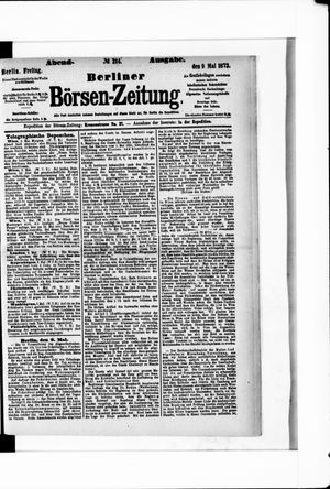 Berliner Börsen-Zeitung vom 09.05.1873