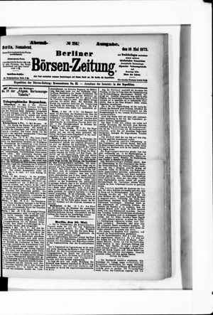 Berliner Börsen-Zeitung vom 10.05.1873