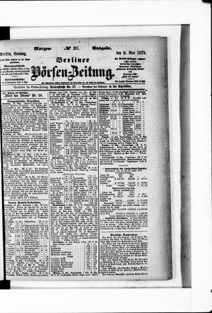 Berliner Börsen-Zeitung vom 11.05.1873