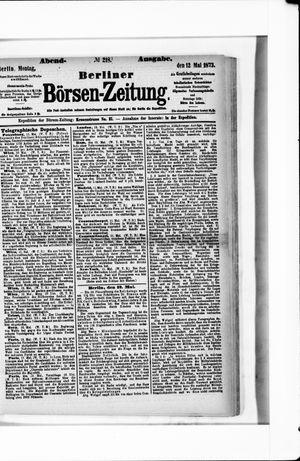 Berliner Börsen-Zeitung vom 12.05.1873