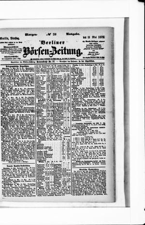 Berliner Börsen-Zeitung vom 13.05.1873