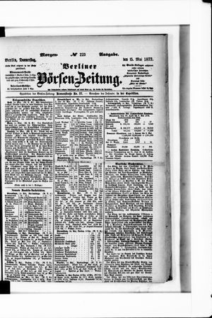 Berliner Börsen-Zeitung vom 15.05.1873
