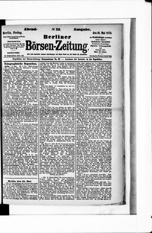 Berliner Börsen-Zeitung vom 16.05.1873
