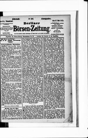 Berliner Börsen-Zeitung vom 17.05.1873