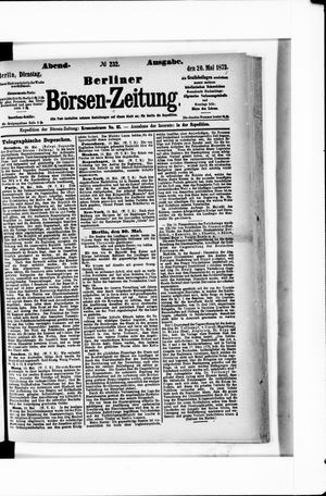 Berliner Börsen-Zeitung vom 20.05.1873