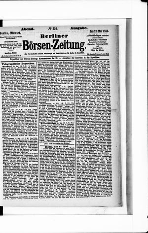 Berliner Börsen-Zeitung vom 21.05.1873
