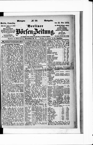 Berliner Börsen-Zeitung vom 22.05.1873