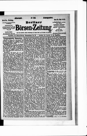 Berliner Börsen-Zeitung vom 23.05.1873