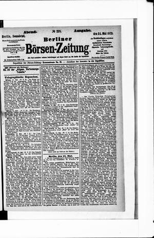 Berliner Börsen-Zeitung vom 24.05.1873