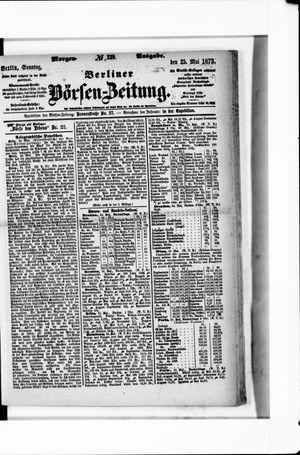Berliner Börsen-Zeitung vom 25.05.1873
