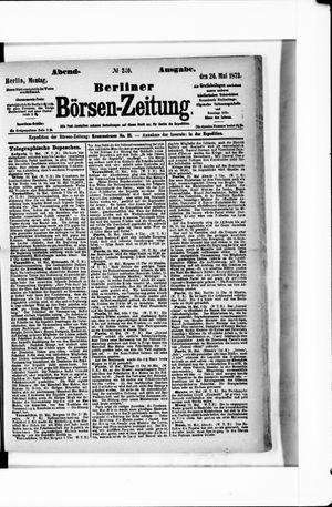 Berliner Börsen-Zeitung vom 26.05.1873