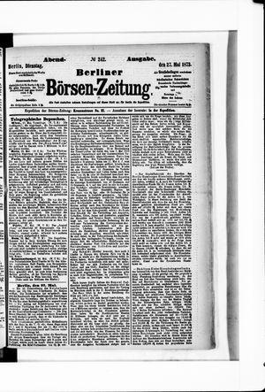 Berliner Börsen-Zeitung vom 27.05.1873