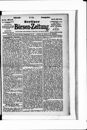 Berliner Börsen-Zeitung vom 28.05.1873