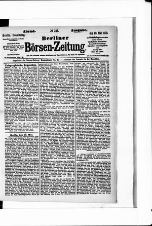 Berliner Börsen-Zeitung vom 29.05.1873