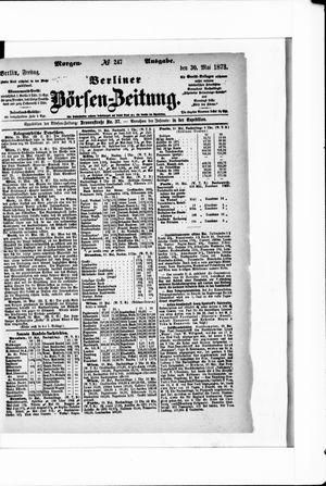 Berliner Börsen-Zeitung vom 30.05.1873