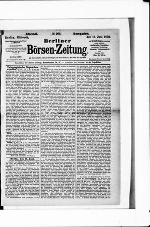 Berliner Börsen-Zeitung vom 11.06.1873