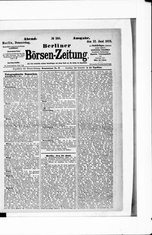 Berliner Börsen-Zeitung on Jun 12, 1873