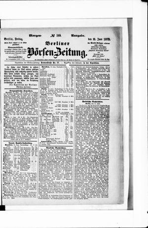 Berliner Börsen-Zeitung vom 13.06.1873