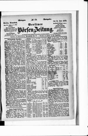 Berliner Börsen-Zeitung vom 14.06.1873
