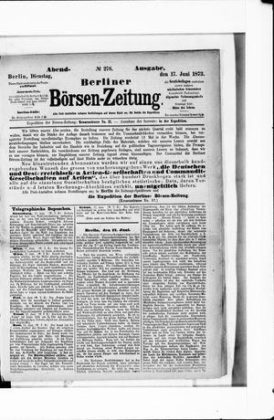 Berliner Börsen-Zeitung vom 17.06.1873