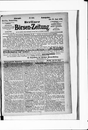 Berliner Börsen-Zeitung vom 19.06.1873