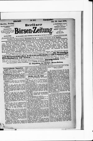 Berliner Börsen-Zeitung vom 20.06.1873