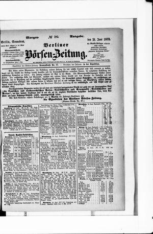 Berliner Börsen-Zeitung vom 21.06.1873