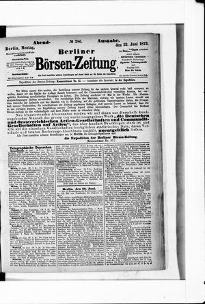 Berliner Börsen-Zeitung vom 23.06.1873