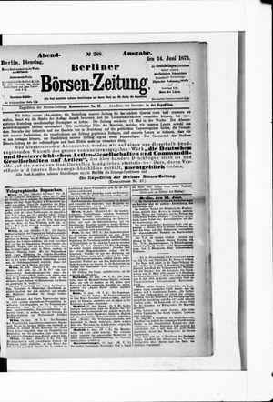 Berliner Börsen-Zeitung vom 24.06.1873
