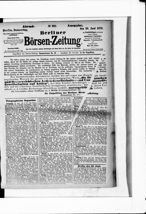 Berliner Börsen-Zeitung vom 26.06.1873