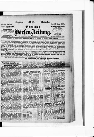 Berliner Börsen-Zeitung vom 29.06.1873