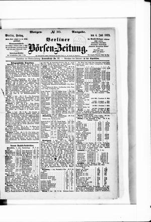 Berliner Börsen-Zeitung vom 04.07.1873