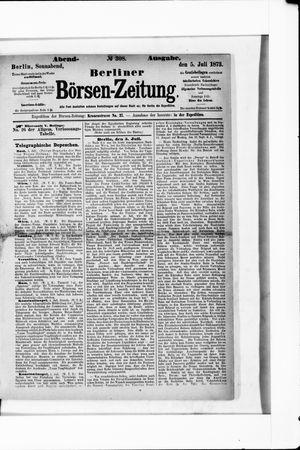 Berliner Börsen-Zeitung vom 05.07.1873