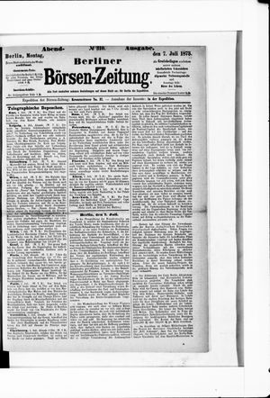 Berliner Börsen-Zeitung vom 07.07.1873