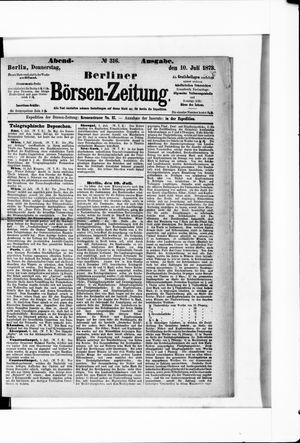 Berliner Börsen-Zeitung vom 10.07.1873