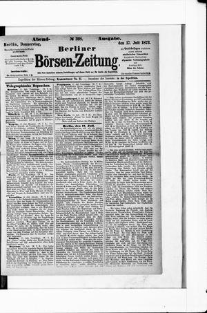 Berliner Börsen-Zeitung vom 17.07.1873