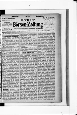 Berliner Börsen-Zeitung vom 19.07.1873