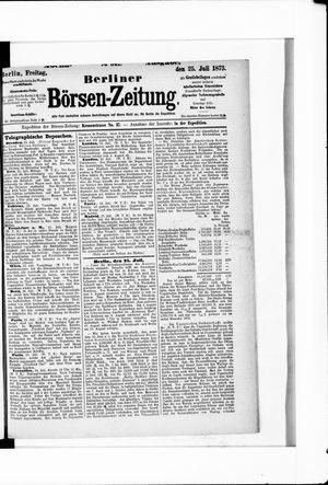 Berliner Börsen-Zeitung vom 25.07.1873