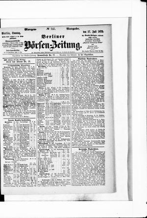 Berliner Börsen-Zeitung vom 27.07.1873