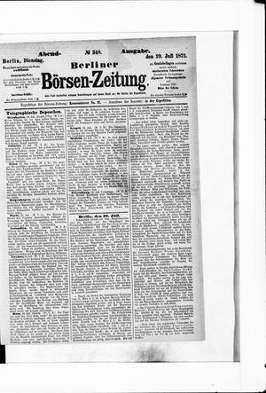 Berliner Börsen-Zeitung vom 29.07.1873