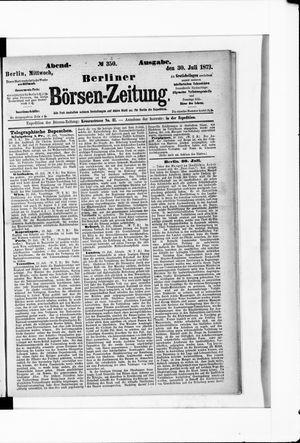 Berliner Börsen-Zeitung vom 30.07.1873