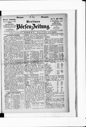 Berliner Börsen-Zeitung vom 31.07.1873