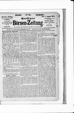 Berliner Börsen-Zeitung vom 01.08.1873