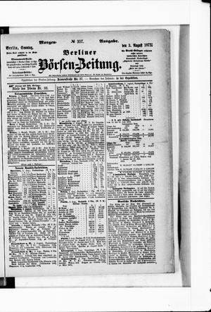 Berliner Börsen-Zeitung vom 03.08.1873