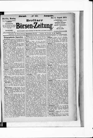 Berliner Börsen-Zeitung on Aug 4, 1873