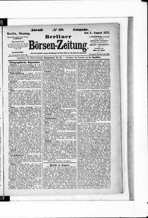 Berliner Börsen-Zeitung vom 05.08.1873