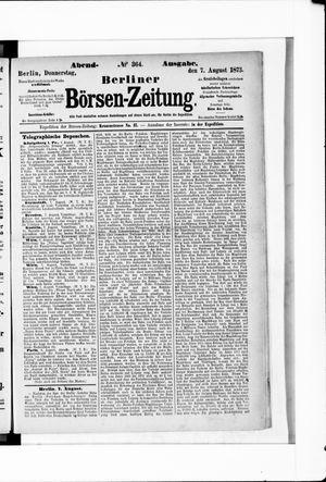 Berliner Börsen-Zeitung vom 07.08.1873