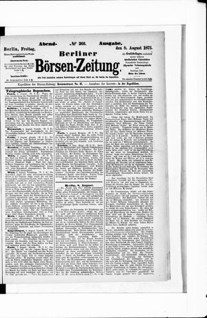 Berliner Börsen-Zeitung vom 08.08.1873